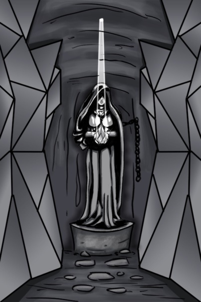 Prism Statue Sketch from The Adventure book